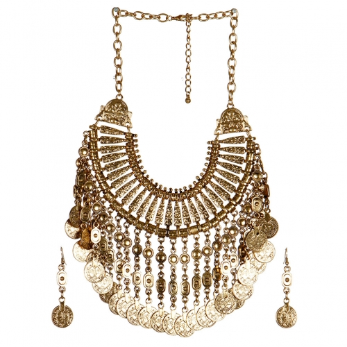 wholesale N33 Coin drop necklace set AG fashionunic