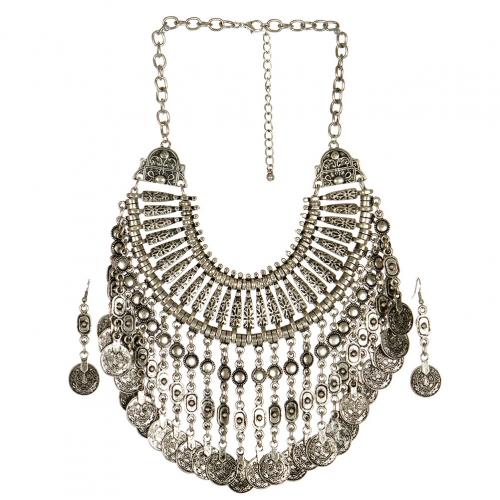 wholesale N33 Coin drop necklace set SB fashionunic