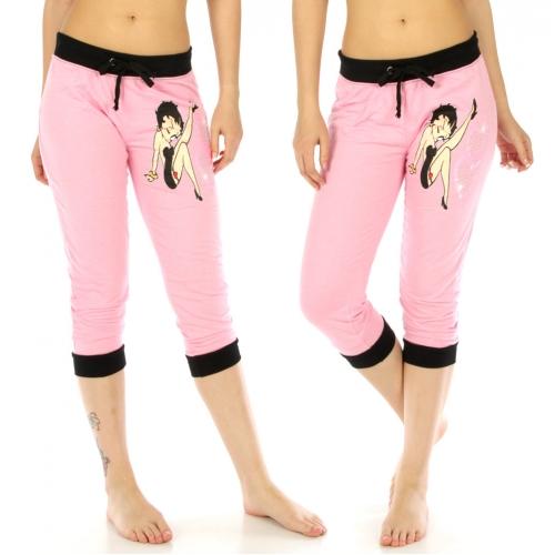 wholesale Betty Boop cotton-blend capri jogger 134 Pink