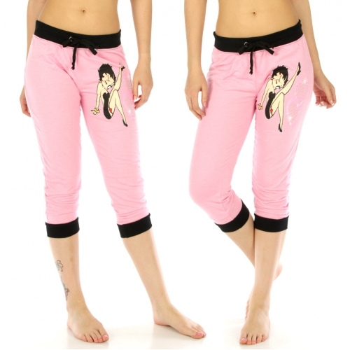 wholesale Betty Boop cotton-blend capri jogger 134 Pink