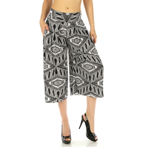 wholesale A01 Abstract capri palazzo pants Tribal