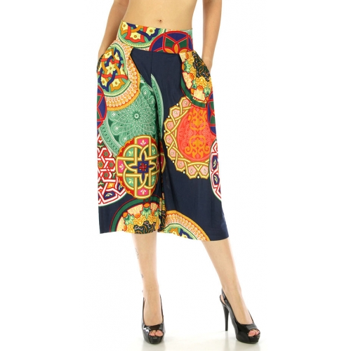 wholesale C26 Abstract capri palazzo pants Kaleidoscope
