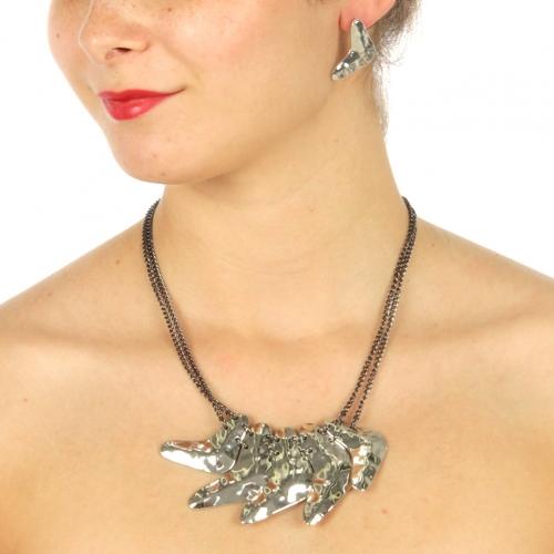 Wholesale L11 V shaped arrow link necklace set RHT