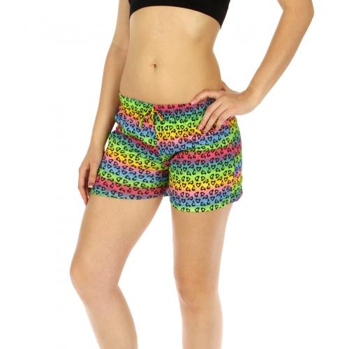 wholesale K77 Hearts cotton pajama shorts Multi