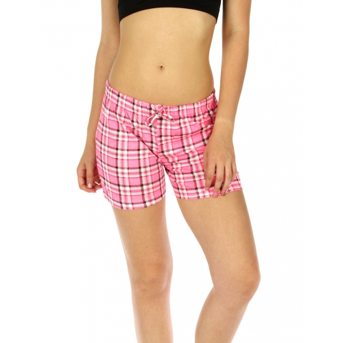 wholesale K77 Flannel cotton pajama shorts Pink