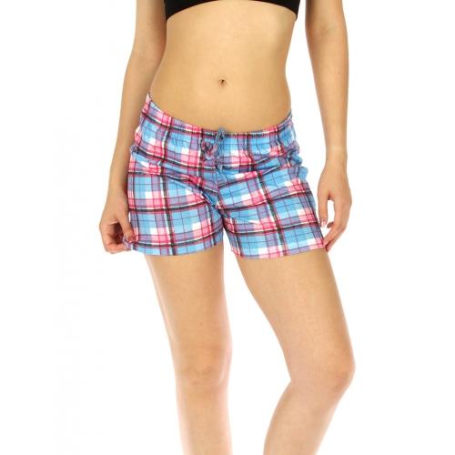 wholesale K77 Flannel cotton pajama shorts Blue