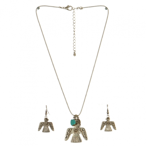 Wholesale L24 Thunderbird feather necklace set SB