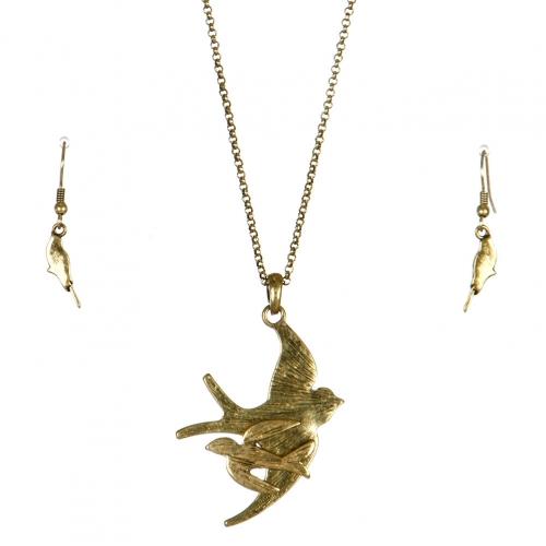 Wholesale L24 Soaring birds long necklace set GB