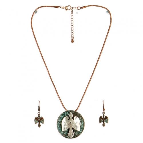 Wholesale L24 Bird embedded necklace set OG fashionunic