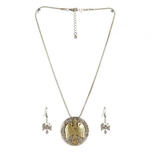 Wholesale L24 Bird embedded necklace set SB fashionunic