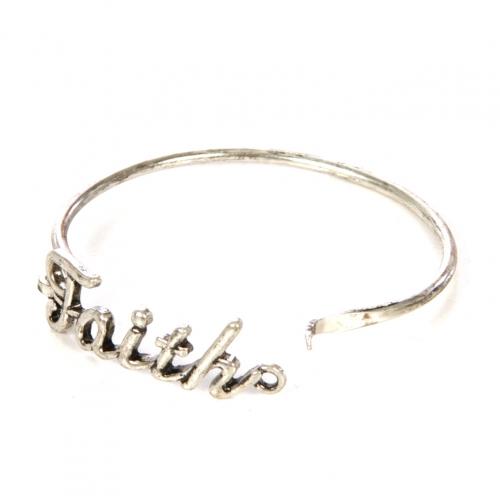Wholesale L22 Faith metal bracelet SB fashionunic