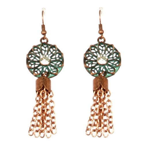 Wholesale L22 Faux crystal accented metal earrings OG
