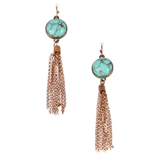 Wholesale L22 TQ metal chain drop earrings OG