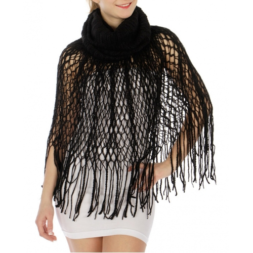 Wholesale R07 Double layer netted line knit scarf
