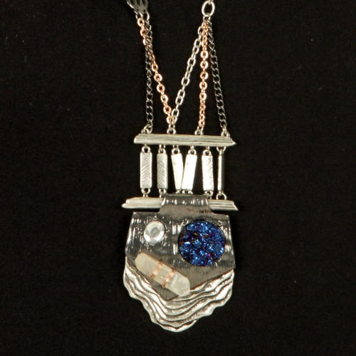 Wholesale L28 Multi stone long necklace set SB