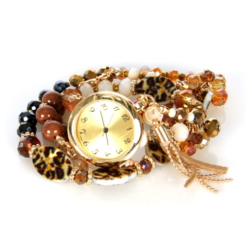 Wholesale L33 Leopard stone watch bracelet GDBR