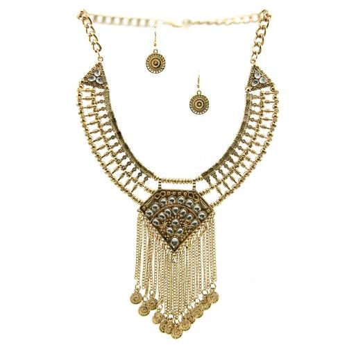 Wholesale L23 Solar tribal drop necklace set AG