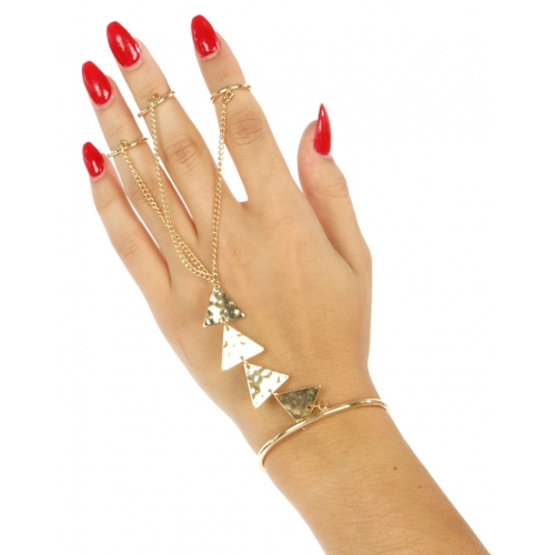 Wholesale L21 Metal triangle rings to bracelet G