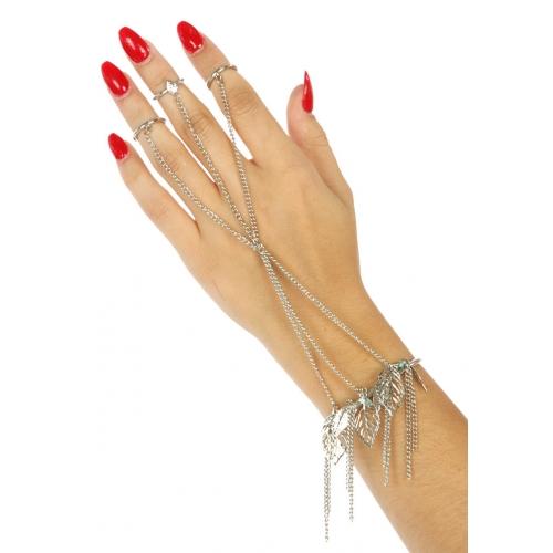 Wholesale L21 Metal open leaves rings to bracelet R