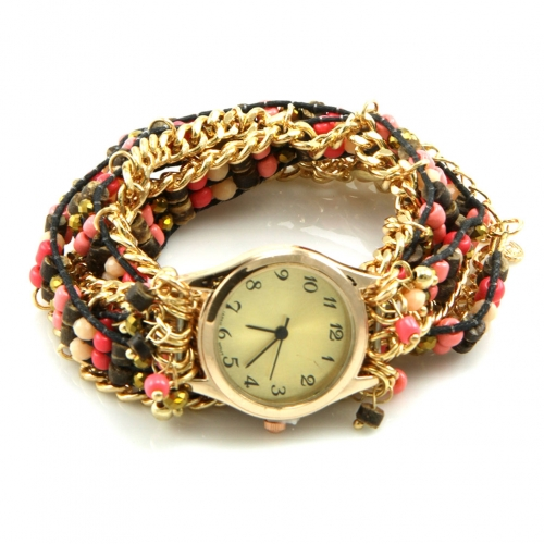 Wholesale L23 Beaded chain watch bracelet
