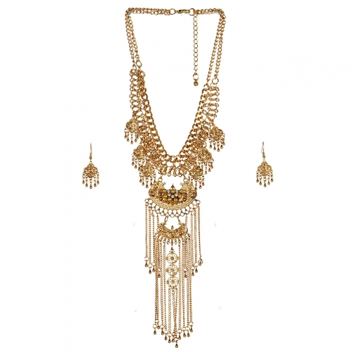 Wholesale L23 Chain waterfall necklace set AG