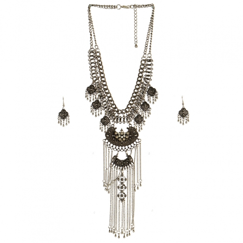 Wholesale L23 Chain waterfall necklace set SB