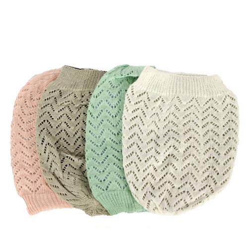 Wholesale W50 Solid reversible open knit beanie Dozen