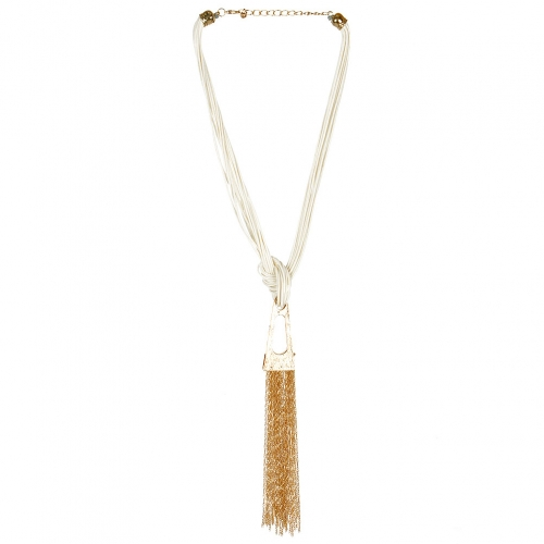 Wholesale L29 Faux leather and chain necklace WH