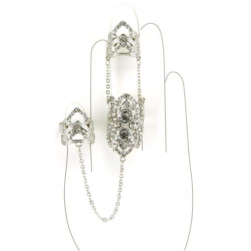 Wholesale L30 Three rings chain and stones R fashionunic