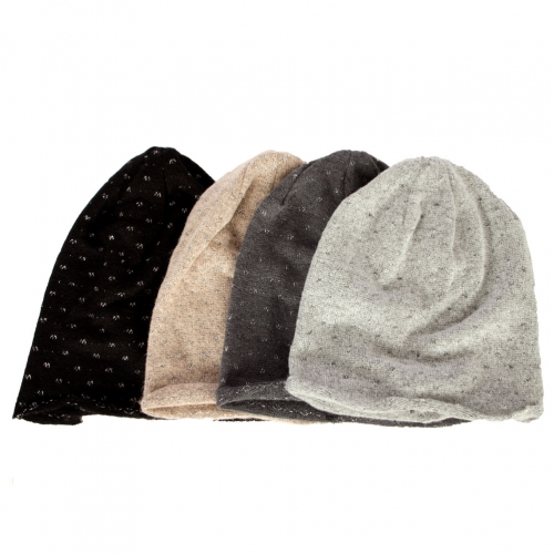 Wholesale W62 Metallic accent knit beanie Dozen