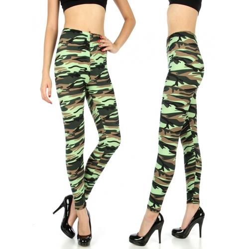 Wholesale H01 Neon camo print leggings