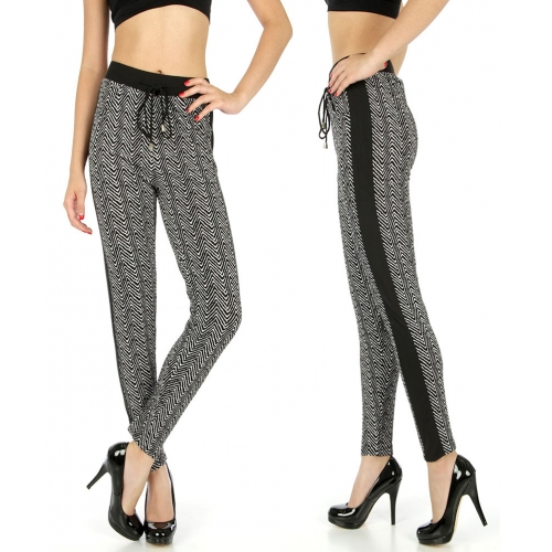 Wholesale C36 Striped pull up pants fashionunic