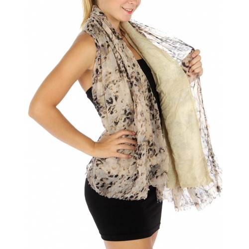 Wholesale S75 Cheetah solid double layer scarf Dozen