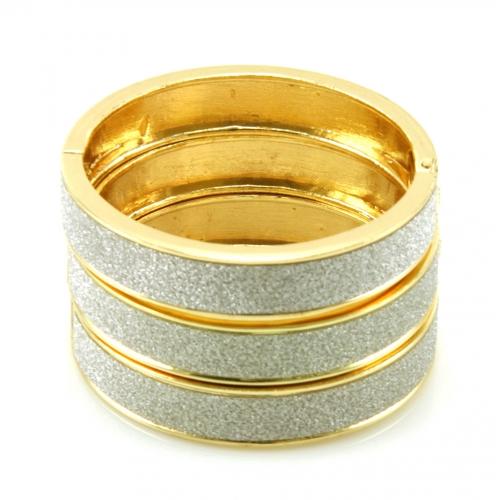 Wholesale L36 Three layer diamond dust bracelet GD/SV