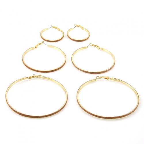 Wholesale L36 Diamond dust hoop earring set GD/PK