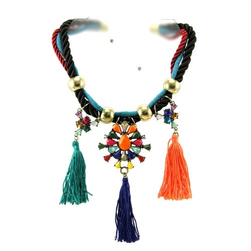Wholesale L34D Multicolored stone necklace set GBMT