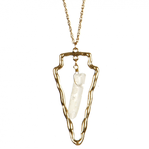 Wholesale L36B Doube layered cutout necklace B.GOLD