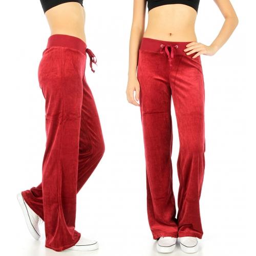 Wholesale M27 Solid velour active pants Black