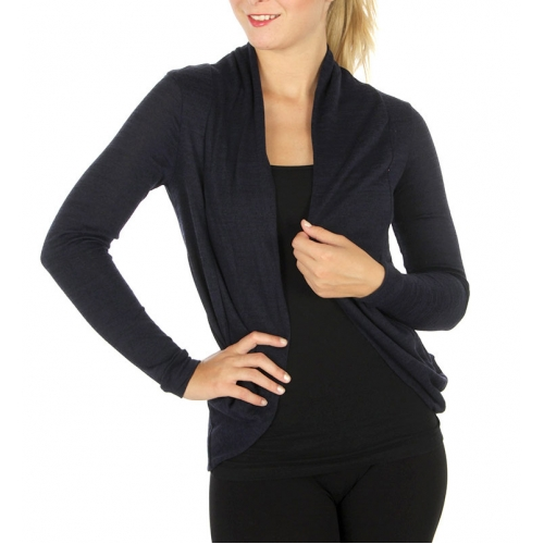 Wholesale G36 Open front cardigan Navy
