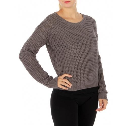Wholesale S62 Long sleeve crew neck sweater Black