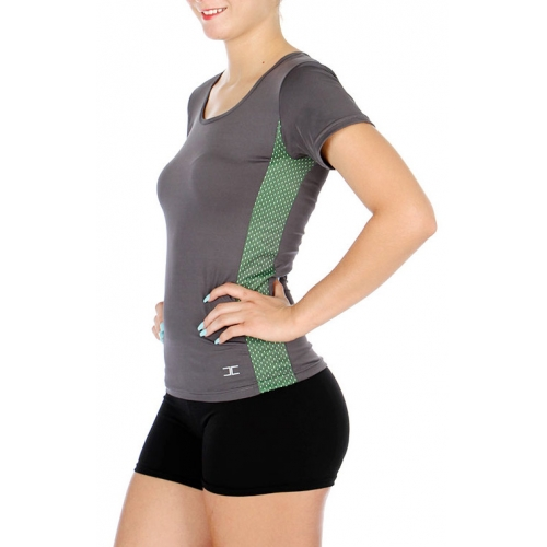 Wholesale WA00 Meshed side active top N.Green
