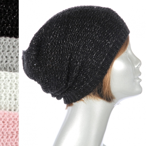 Wholesale V82 Solid metallic knit beanies Dozen