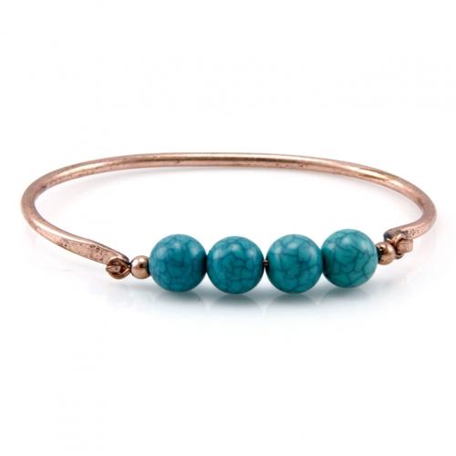 Wholesale L28C Turquoise beads bangle OG fashionunic