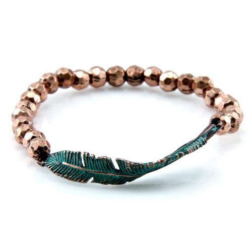 Wholesale L28E Metal beaded stretch bracelet OG