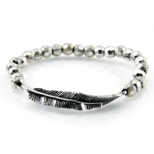 Wholesale L28E Metal beaded stretch bracelet SB