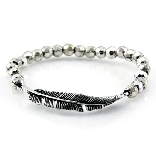 Wholesale L28E Metal beaded stretch bracelet SB