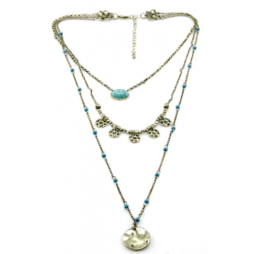 Wholesale M12C Three tier beaded necklace GB fashionunic