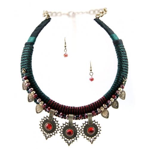Wholesale M14C Stone drop choker necklace set RGRD