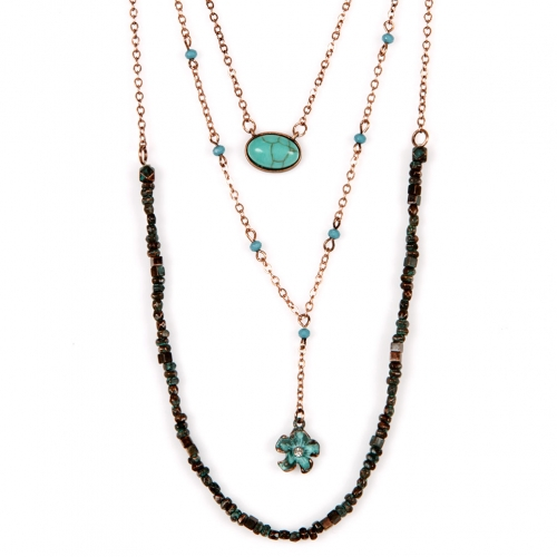 Wholesale M12D TQ beads drop necklace OG fashionunic