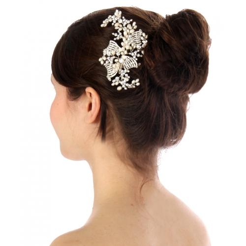 Wholesale N35 Elegant hair comb Silver fashionunic